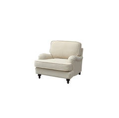 3-Piece Modern Minimalism Style Sofa Set, Cream-colored