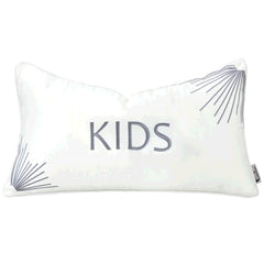 Velvet Plush Simple Pillow, White