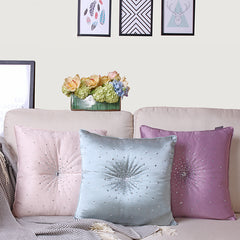 Luxury Crystals Sparkly Pillow Decor Cushion, Pink\ Yellow\ Light Blue