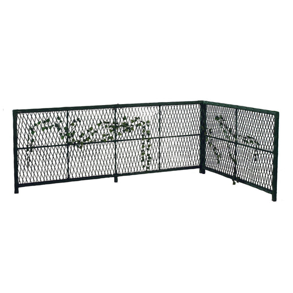 Decorative Hand Woven Rattan Garden Divider, Black