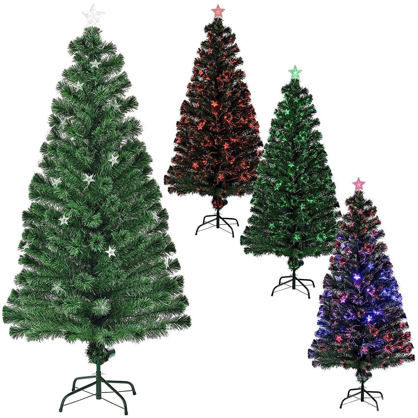 6ft Green Pine Artificial Christmas Tree with Multi-Colored Lights