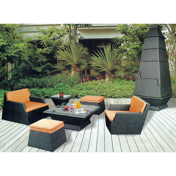 9 PCS Patio Rattan Stackable Furniture Set, Space Saving Stackable Sofa Set