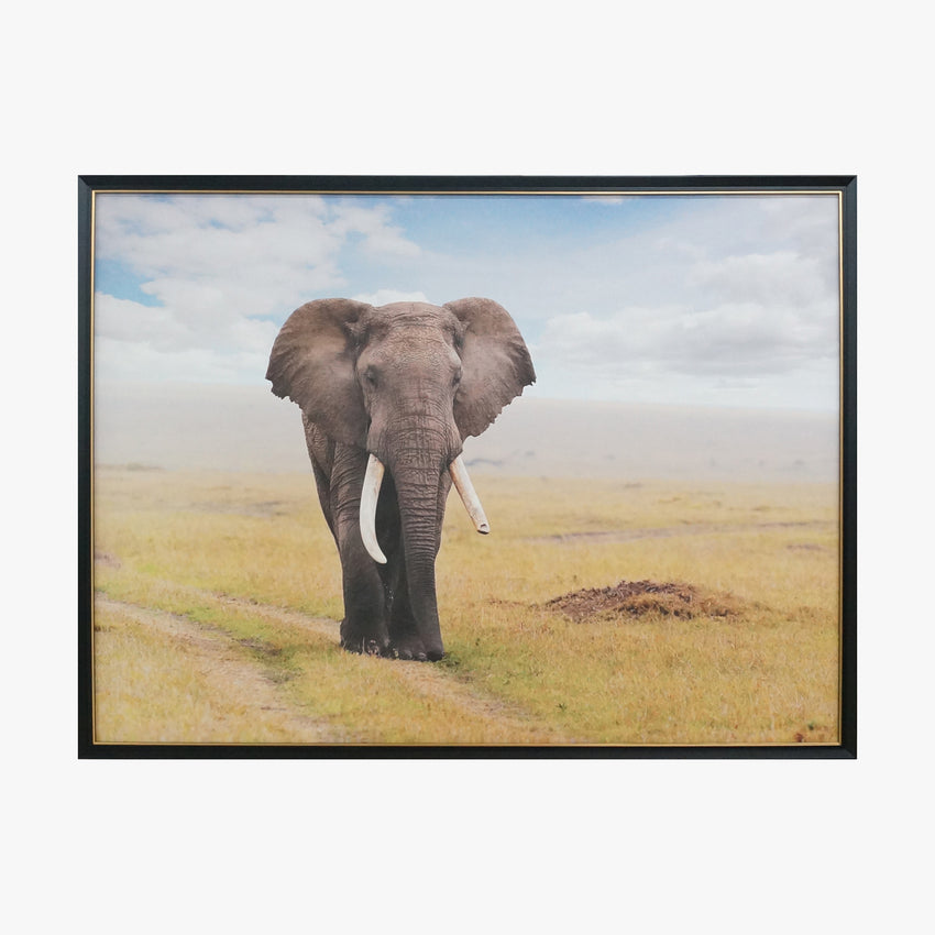 Crystal Painting - Elephants in Grassland