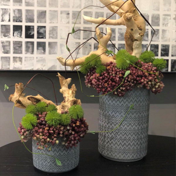 Ikebana Art - Artificial Bohemian and Coffee Fruit with Vase