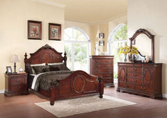 ACME Estrella California King Bed - 21724CK - Dark Cherry