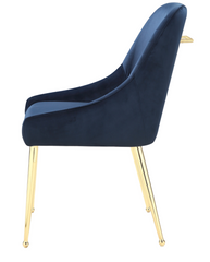 Contemporary Modern Design  Dark Ink Blue Side Chairs Dining Chair set of 2
