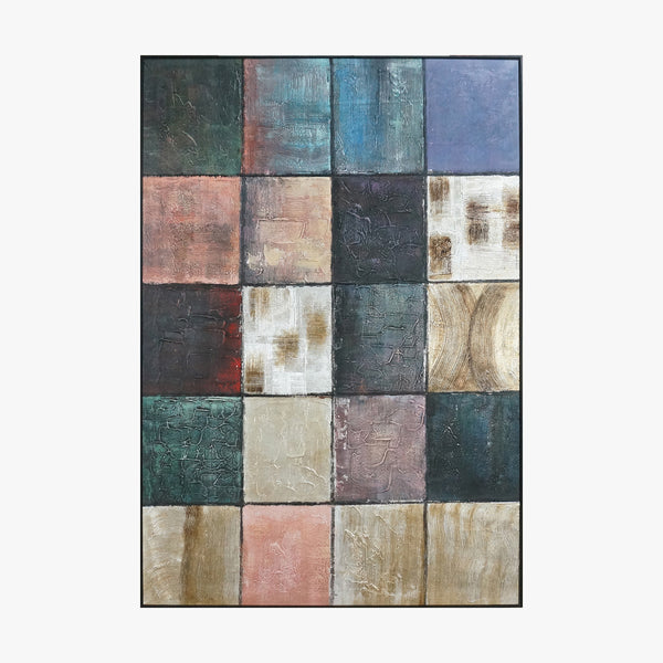 Abstract Color Framed Wall Art  Colorful Square