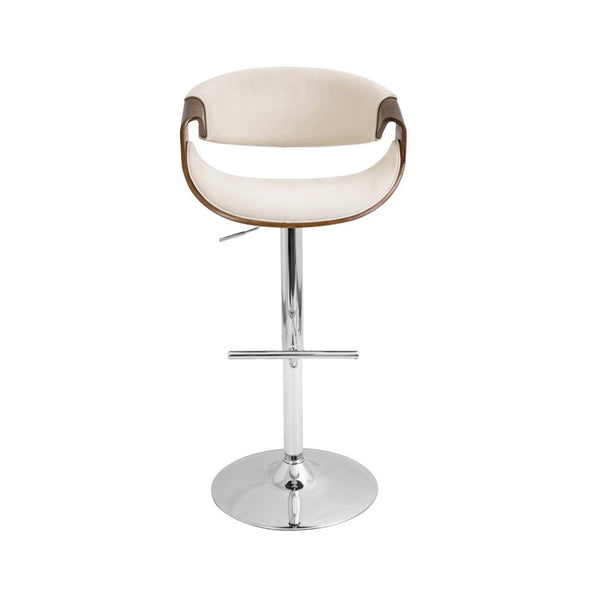 Adjustable Height Bar Stool with Swivel, Beige