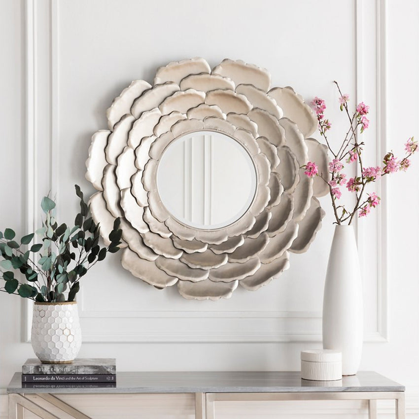 "Home Accents Flower 32"" x 32"" x 2"" Mirror"