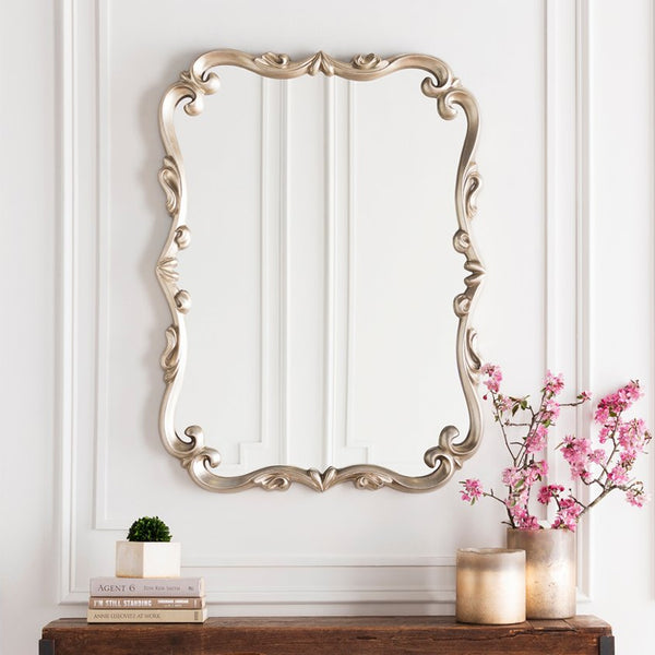 "Home Accents Embossed 40.5"" x 30.5"" x 1.5"" Mirror"