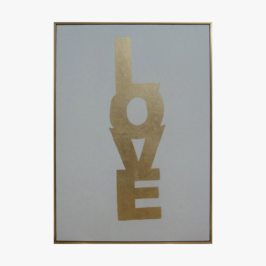 Framed Wall Art - LOVE - Gold