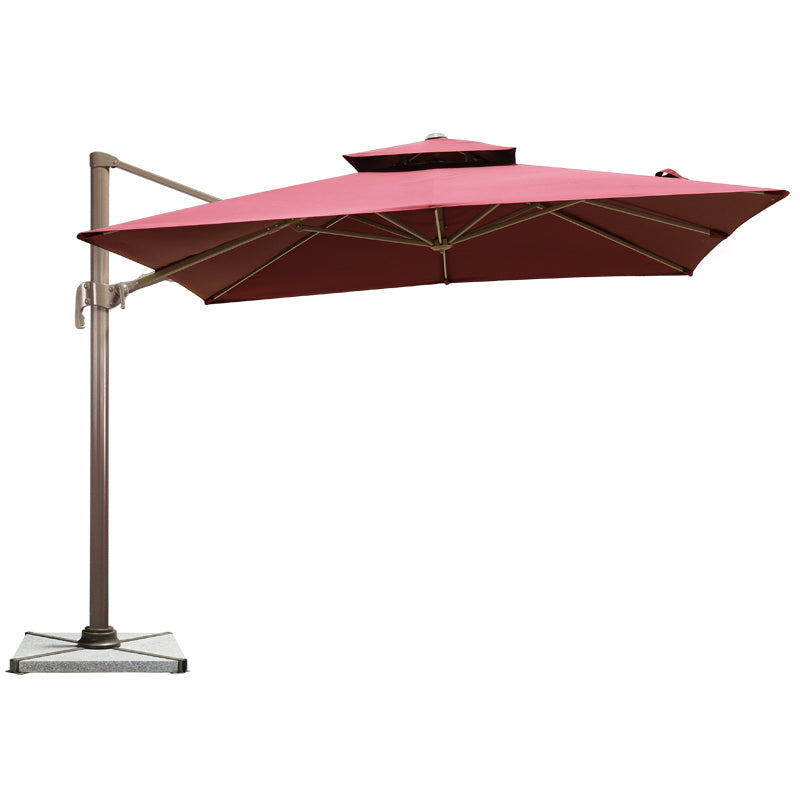 Offset Cantilever Hanging Patio Umbrella, Red