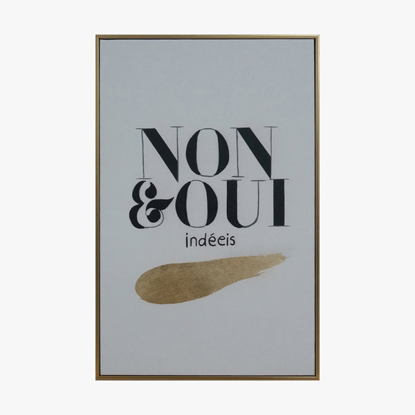 Framed Wall Art - Slogan