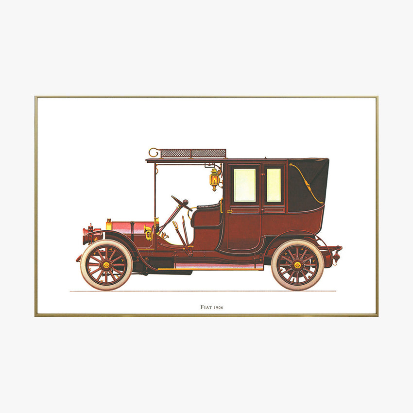 Fiat 1906 old fashioned car crystal printing