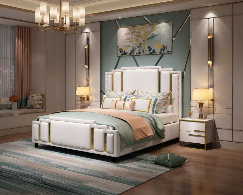 Modern light luxury bed