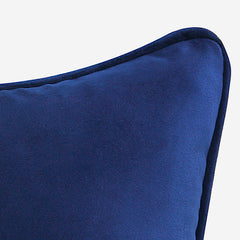 Modern Velvet Polygon Home Decorative Throw Pillow, Blue .Decor Cushion