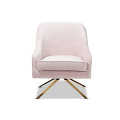 Modern Velvet ArmChair - Mid Century Accent Leisure Chairs, Rose