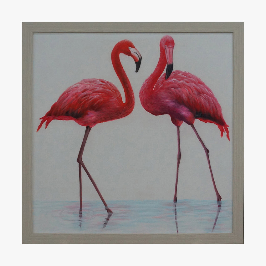 Oil Painting - Red Flamingo