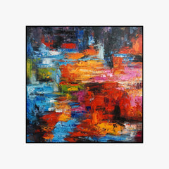 Oil Painting - Colorful world - Abstract Art