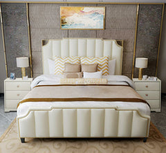 Light luxury and modern American double bed simple