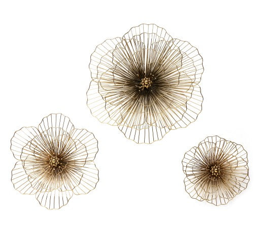 Titanium Gold Flower Wall Decor