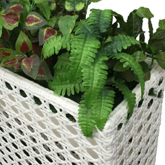 Wicker Plant Stand - Outdoor Elevated Flower Pot Stand