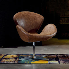Modern Swivel Chair, Brown