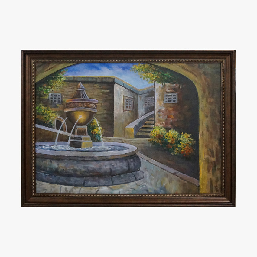 Oil Painting - Fountain