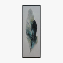 watercolor Framed Wall Art - Feather