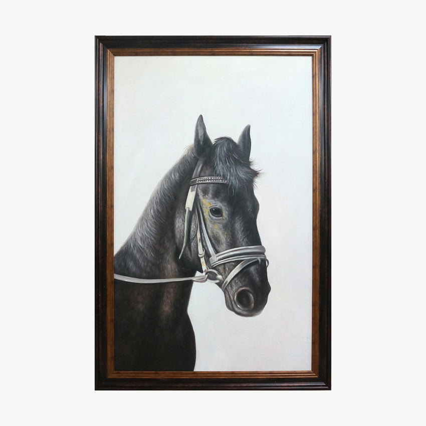 Oil Painting - Black Horse