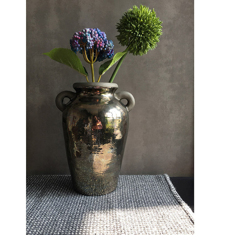 Ceramic Electroplated Metallic Gold Vase