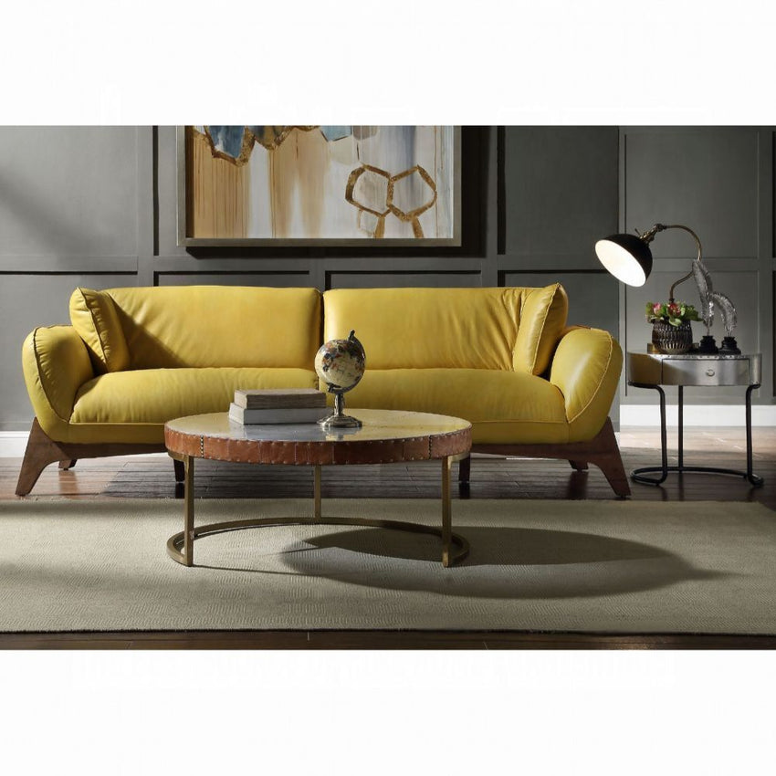 Contemporary Design Pesach- Mustard Leather