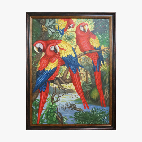 Oil Painting - Macaw