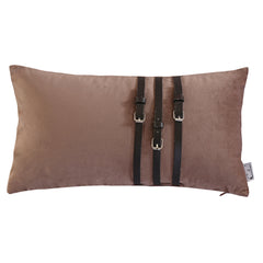 Decorative Velvet Cushion Lumbar Throw Pillow, Camel