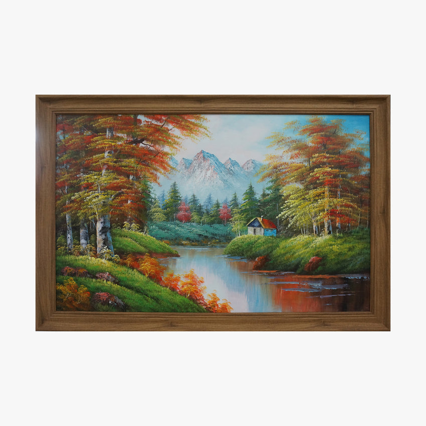 Oil Painting - Maple forest