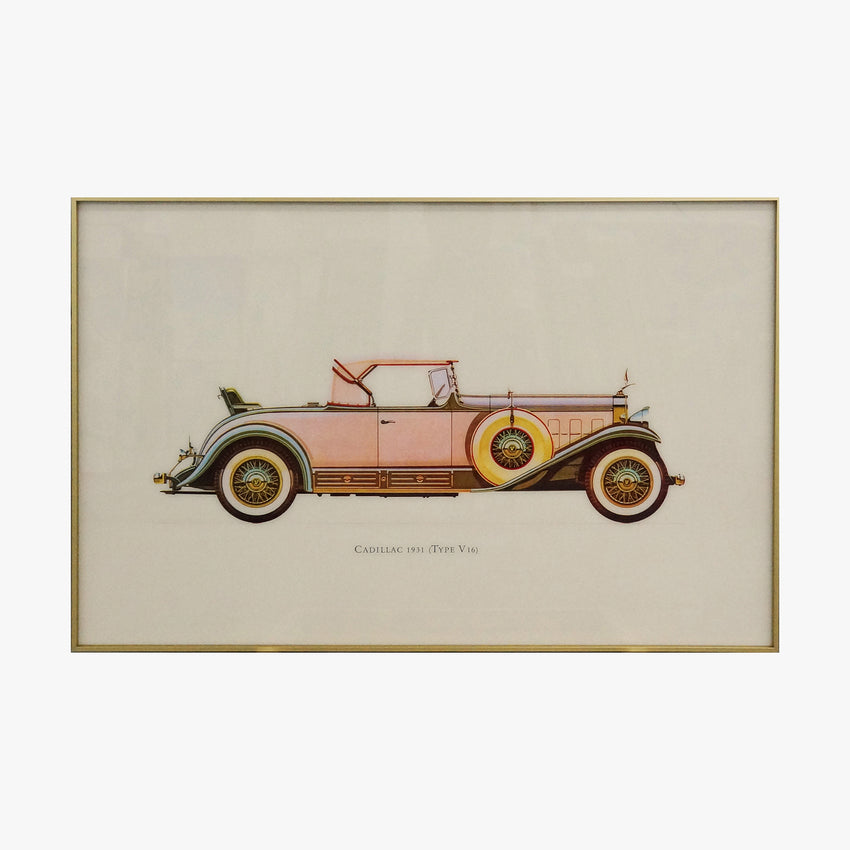 Cadillac 1931 Old Fashioned Car Crystal Painting