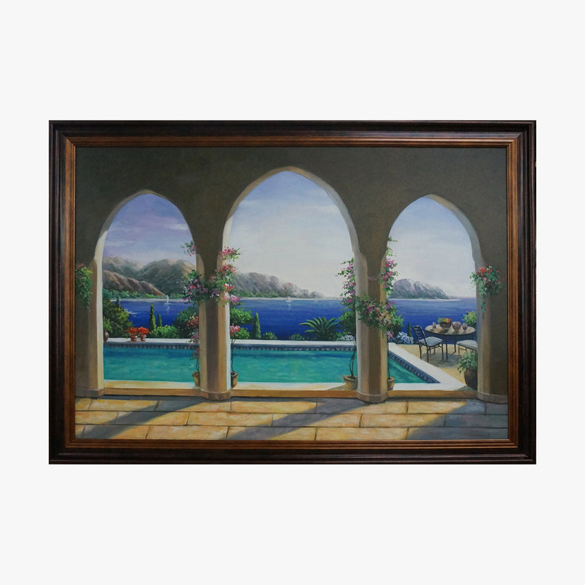 Oil Painting - Swimming Pool