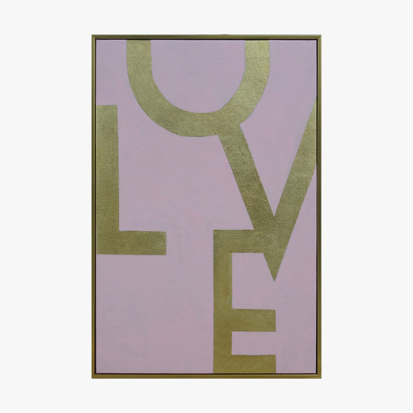 Framed Wall Art - LOVE - Pink
