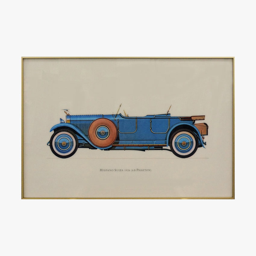 Crystal Painting - Hispano Suiza 1926 Old Fashioned Car