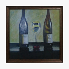 Oil Painting - Wine bottle