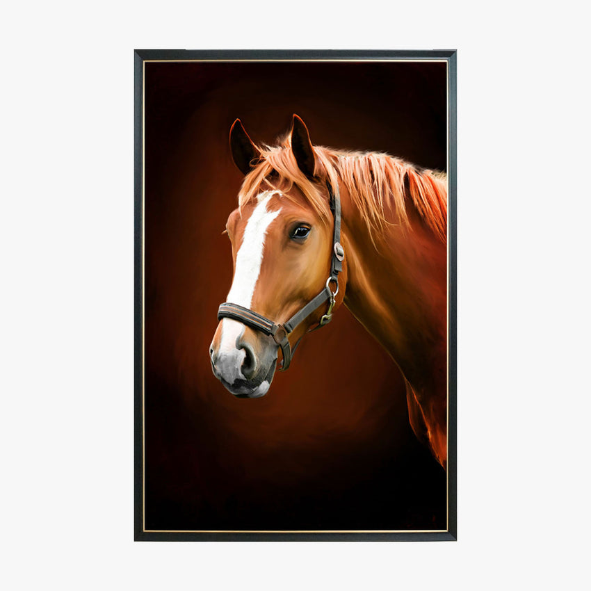 Crystal Painting - Horse Portrait