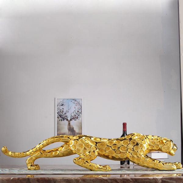 Sculpture Leopard Ornaments, Lucky Home Decoration