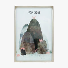 """You Did It "" Cartoon Framed Wall Art"