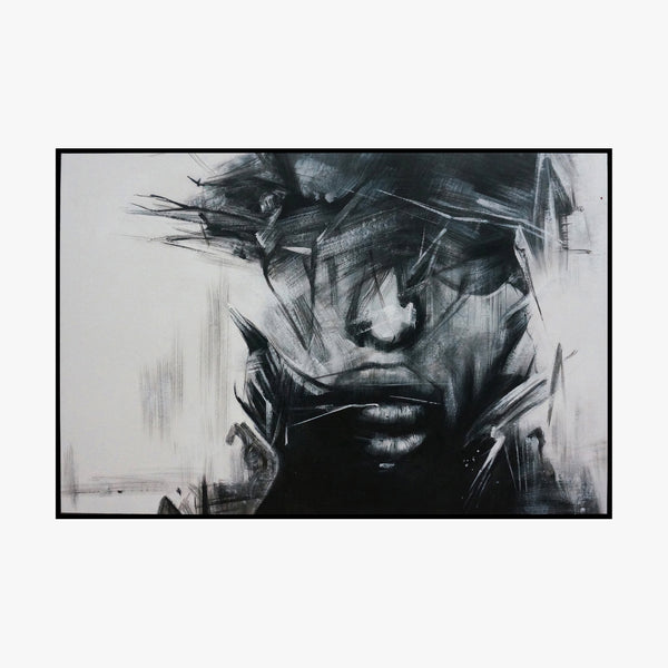 Oil Painting - Man, charcoal