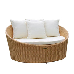 Modern Urban Design Outdoor Patio Rattan Round Daybed Sofa, Detachable