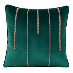Vintage Velvet diamond line Throw Pillow, 3 Color