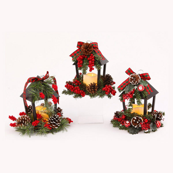Decorative Holiday Lanterns (Set of 3)