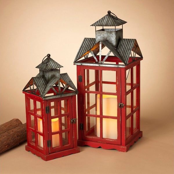 Decorative Nesting Red Lanterns (Set of 2)