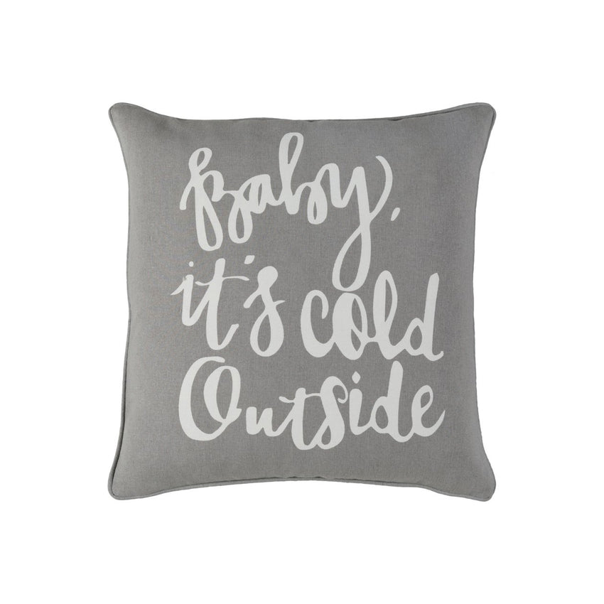 Holiday Throw Pillow - Baby, it's cold outside