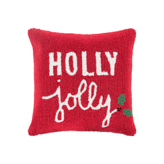 Holiday Throw Pillow - Holly Jolly